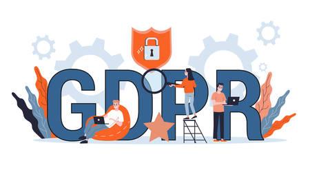 GDPR or general data protection regulation concept