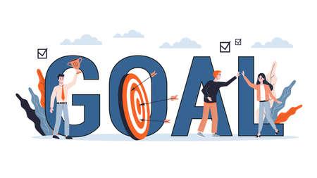 Business goal concept. Idea of moving towards success
