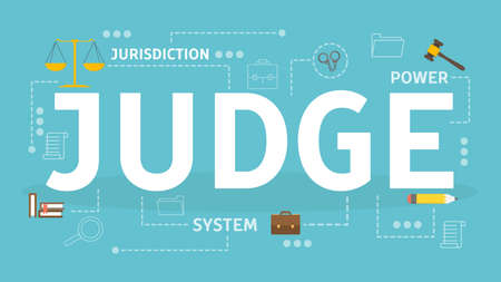 Judge concept. Idea of justice and judgment. Ilustrace
