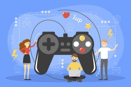 Concept de jeu vidéo. Idée de divertissement et de plaisir.