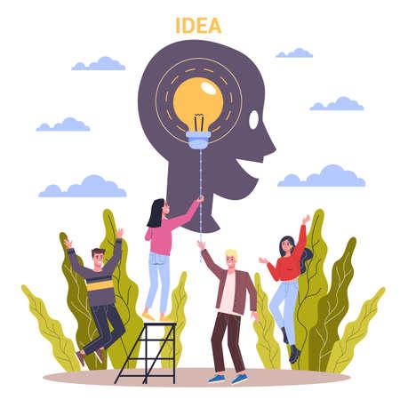 Innovation horizontales flaches Banner für Ihre Website Vektorgrafik