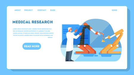 Vector illustration for idea of innovative healthcare and medical research.
