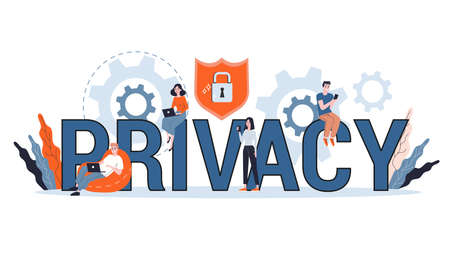 Data privacy concept. Idea of safety and protection Illustration