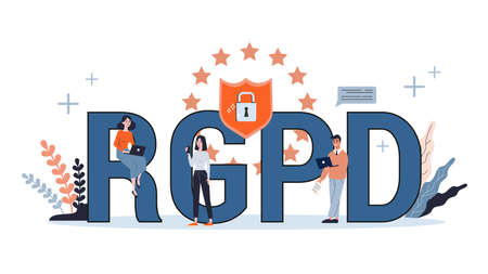 General Data Protection Regulation concept. Cyber security concept.