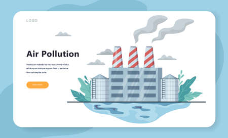 Air pollution and dirty environment danger concept. Industria