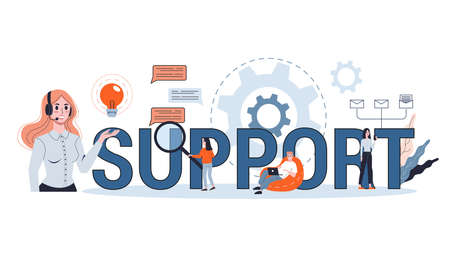 Services concept. Idea of customer support. Help clients