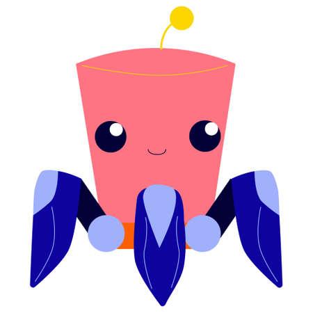 Futuristic robotic character. Idea of automation. Cyborg and humanoid.