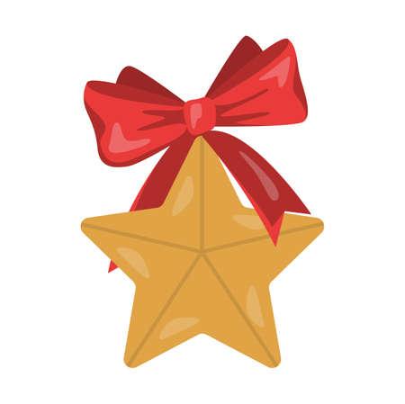 Vector illustration of traditional Christmas golden star