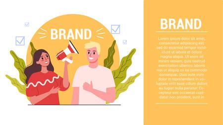Brand concept. Unique design of a company. Brand recognition