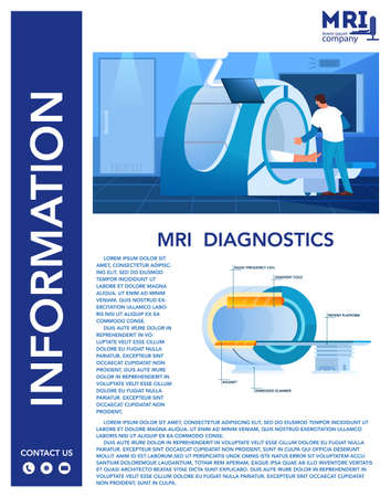 Magnetic resonance imaging advert brochure. Medical research