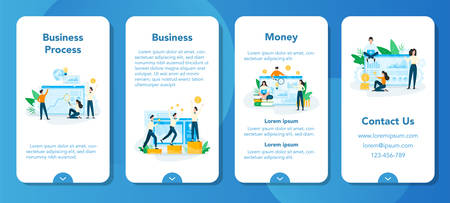Business planning concept set. Idea of analysis Ilustrace