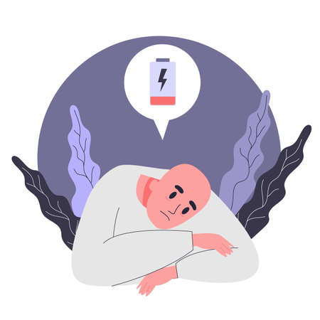 Side effects of chemotherapy. Patient suffer from cancer disease. Vector Illustration