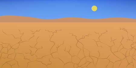Drought concept. Desert landscape, rocks and stone.