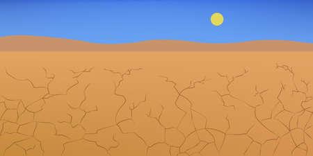 Drought concept. Desert landscape, rocks and stone.