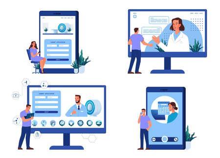 Concept d'enregistrement IRM en ligne. Consultation avec un professionnel