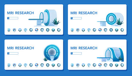 MRI clinic website concept. Medical research and diagnosis. Ilustração Vetorial