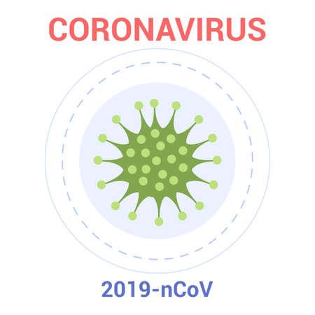 2019-nCoV. Coronovirus alert. Dangerous virus epidemic. Vektorové ilustrace
