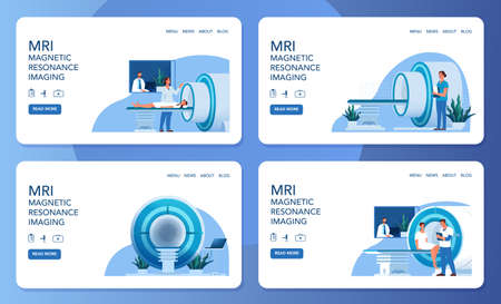 MRI clinic website concept. Medical research and diagnosis.