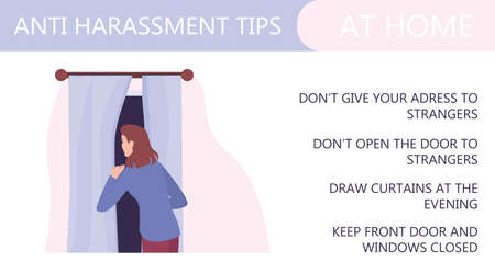 Sexual assault and harassment at home prevention infographic.