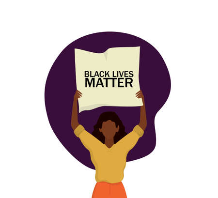 Black Lives Matter concept. Young afro american activist