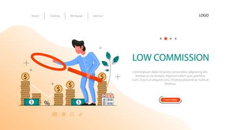Real estate advantage web banner. Low comission for real estate agent work.