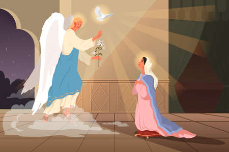 Bible narratives about the Annunciation to the Blessed Virgin Mary.