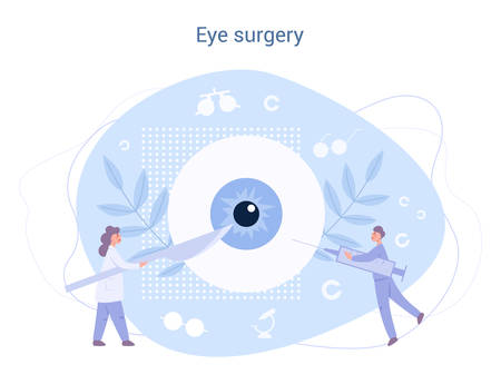 Ophthalmologist eye surgery. Idea of eye and vision care.