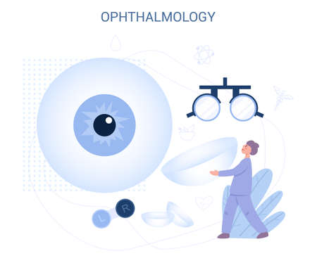Ophthalmology concept. Idea of eye care and vision.