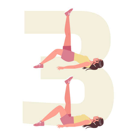Anti cellulite exercises for losing weight. Become slim doing sport Illustration