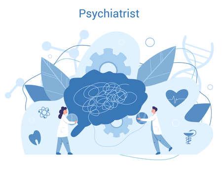 Psychiatrist concept. Mental health idea. Doctor treat person mentality