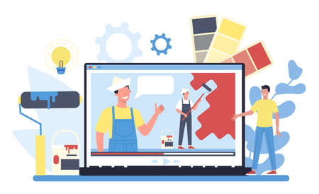 Painter, decorator online service or platform. Online