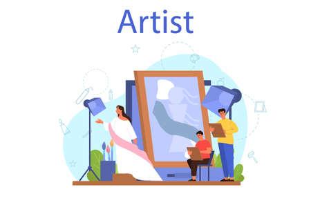 Artist concept illustration. Idea of creative people and profession.