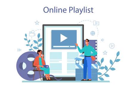 Film directing online service or platform. Idea of creative people