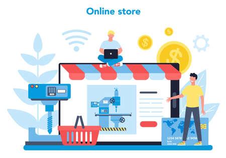 Miller and milling online service or platform Vecteurs