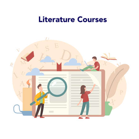 Literature school subject course. Idea of education and knowledge.