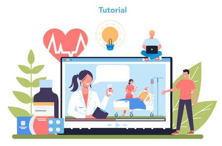 Nurse online service or platform. Medical occupation, hospital
