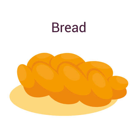 Tasty delicious bread loaf. Idea of bakery and fresh dinner. Healthy Illusztráció