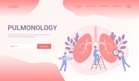 Medical specialty and examination web banner or landing page set.