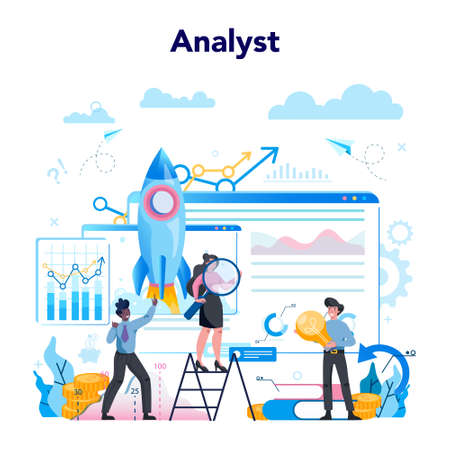 Business analyst concept. Business strategy and project