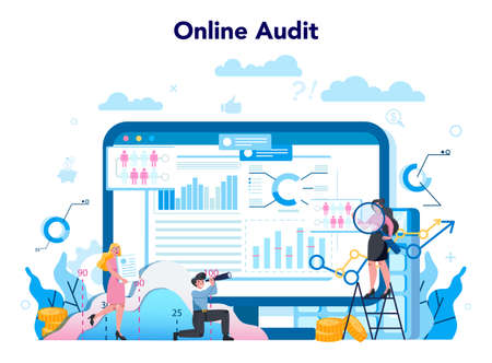 Audit online service or platform. Online business operation