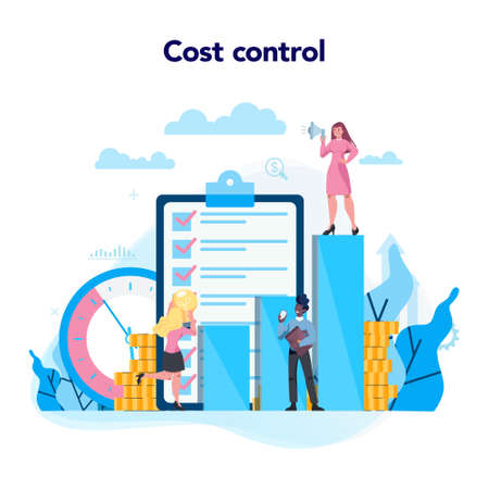 Cost control concept. Idea of financial planning savings