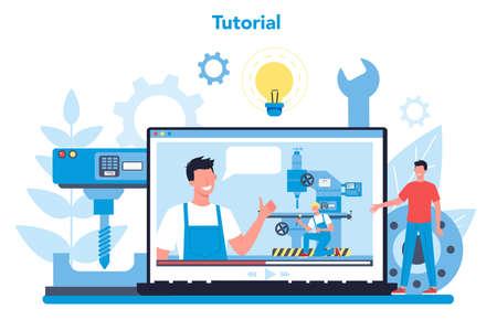 Miller and milling online service or platform. Vektorgrafik
