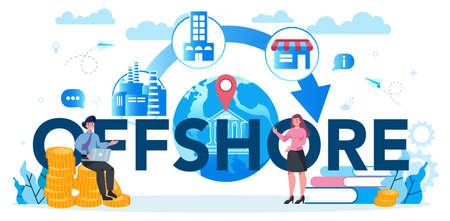 Offshore specialist or company typographic header concept. Ilustración de vector