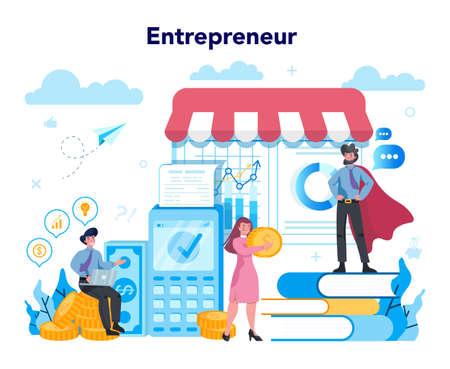 Enterpreneur concept. Idea of lucrative business, strategy