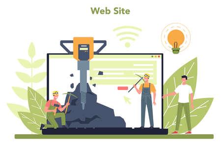 Coal or minerals mining online service or platform.