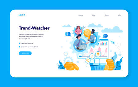 Trendwatcher web banner or landing page. Specialist in tracking