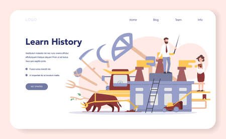 History concept web banner or landing page. History school