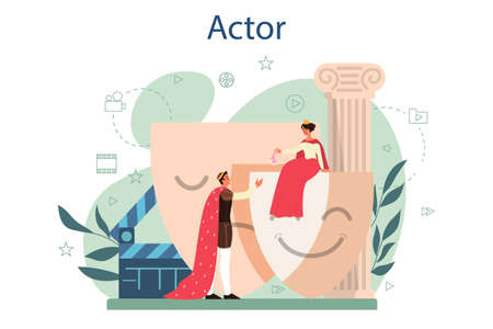 Actor and actress concept. Idea of creative people and profession.