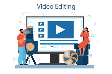 Video production or videographer online service or platform Vector Illustratie