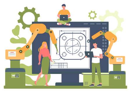 Plataforma en línea de ingeniería. Plataforma de proyectos online. Tecnología